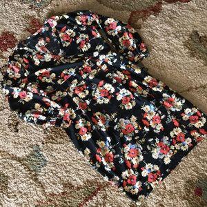 NWT ASOS Curve Floral Faux Wrap Midi Dress
